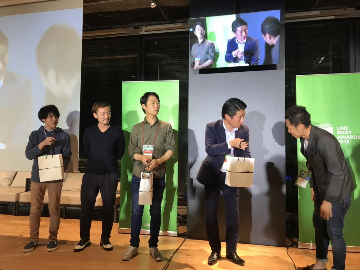 「LINE@友だち追加でフリーWi-Fiに簡単接続」が入賞