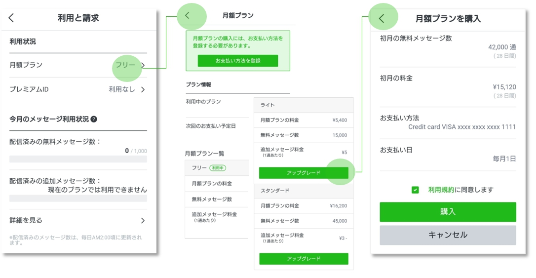 Androidで料金プラン変更